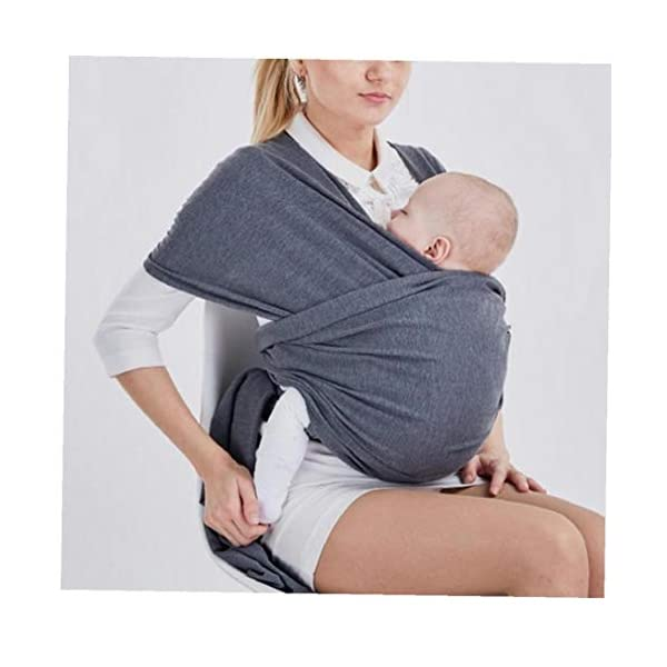 Baby Wrap Carrier Baby Carrier Outdoor Infant Carrier Portable Baby Newborn Wrap Hands Free Babies Carrier Wrap Baby Shower Gift Dark IUwnHceE BENEFIT: The right amount of elasticity also keeps your baby safe and snug in the wrap without having to constantly readjust the wrap. USING: Easy to use for new baby wearing moms! FUNCTION: Disperses baby's weight,relieve mother's pressure of shoulder, waist and abdomen. 3