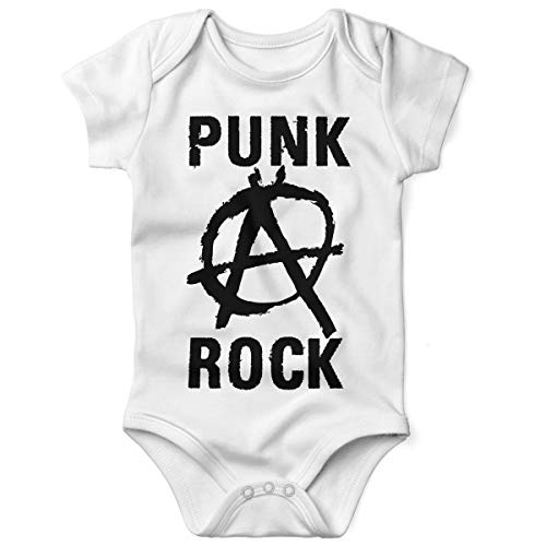 Mikalino Babybody mit Spruch für Jungen Mädchen Unisex Kurzarm Punk Rock Anarchy | handbedruckt in Deutschland | Handmade with Love, Grösse:68, - Punk Rock Kostüm Junge