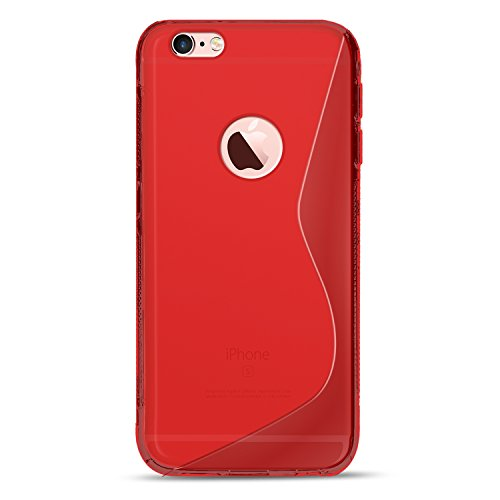iPhone 5C Silikon Hülle Case in Schwarz Cover 5C Schutzhülle Handyhülle Cover Silikonhülle Rückschale Rot