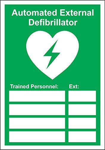 Automatisierter externer Defibrillator für geschultes Personal,1,2mm starrer Kunststoff 300mm x 200mm -