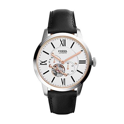 Fossil Herren-Uhren ME3104 Fossil Herren Uhr Schwarz Leder