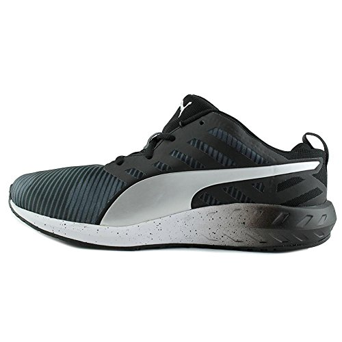 Puma Flare Graphic Synthétique Baskets Black-White-Puma Silver