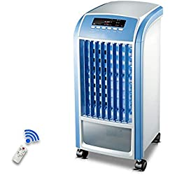 Ytaoo Climatiseurs Ventilateurs 3 en 1 • 3 Vitesses • 360m²/h • Réservoir d'eau de 4L • Contrôle à Distance • Humidification • Bleu Refroidisseur d'air