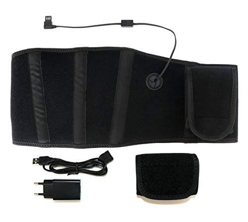 Thermrup Ferninfrarot (FIR) mobiler Wärmegürtel - USB-Betrieb(Powerbank oder Netzteil) beheizbarer Gürtel(medizinische Qualität) mit 3-stufiger Temperaturregelung