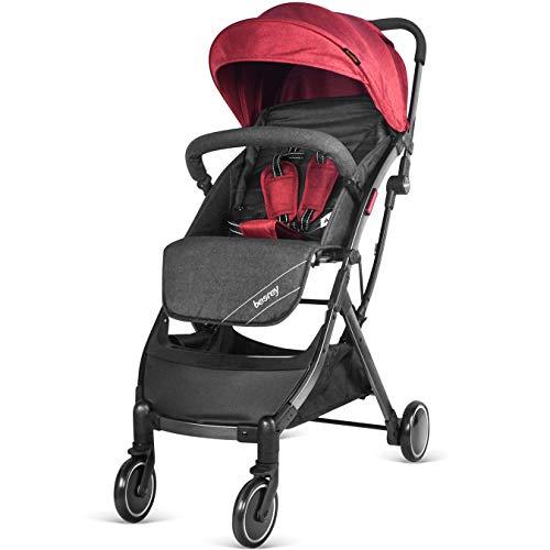 41reDZMut1L - Besrey Silla de paseo de bebe Compacta y Ligera Cochecito para Viaje Plegable Carritos de Bebe 3 años