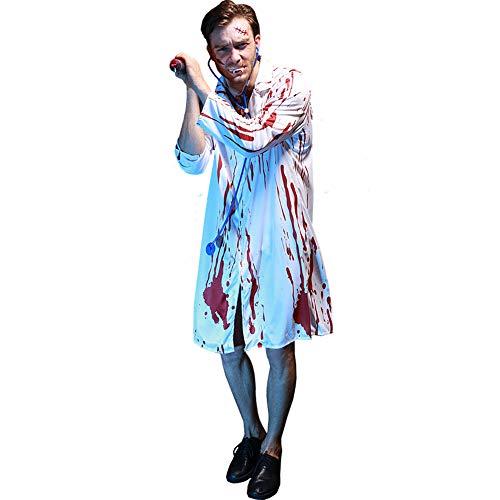 Halloween Kostüm Herren Erwachsene Unisex Karneval Fasching Blut Horror Arzt Mit - Herren Sexy Arzt Kostüm