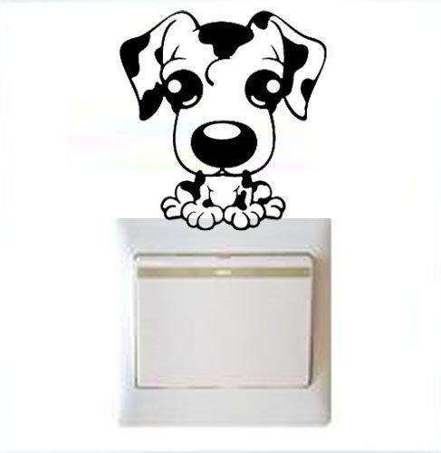 Vinilo decorativo pegatina pared, cristal, puerta (Varios colores a elegir)- perro