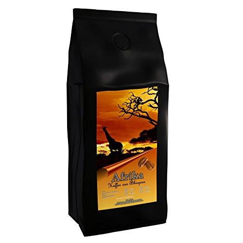 Kaffeespezialität Aus Afrika - Äthiopien - Kaffee Aus Dem Urspungsland Des Kaffee (Gemahlen,1000 Gramm) - Länderkaffee - Spitzenkaffee - Säurearm - Schonend Und Frisch Geröstet