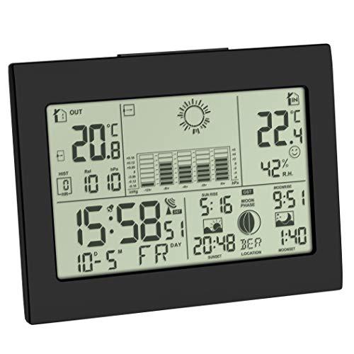 TFA Dostmann Horizon 35.1155.01 - Estación meteorológica inalámbrica con Sensor Exterior, previsión...
