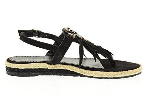 APEPAZZA Flip-Flops Schuhe VLE10 / SUEDE BLACK VEGA Black