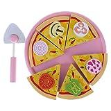 Sharplace Juguete de Cocina de Imitación Corte de Pizza Magnética Juego de rol para Niños