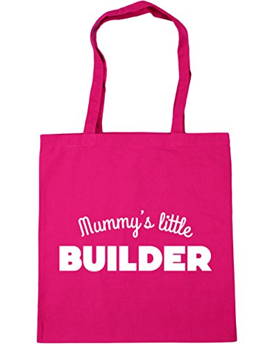 hippowarehouse Mummy 's Little Builder Tote Shopping Gym Beach Bag 42cm 3838, 10Liter, fuchsia, One Size (Werkzeuggürtel Rosa)