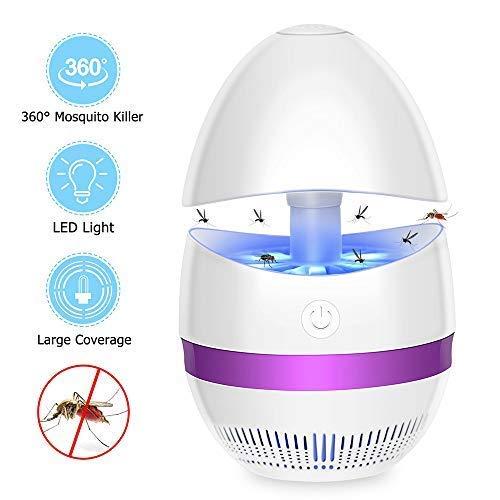 BICLT Lámpara antimosquitos de Interior LED, Repelente de Mosquitos, Trampa eléctrica para Mosquitos, Destructor de Insectos para casa, jardín, Oficina, Camping