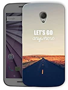 "Humor Gang Let'S Go Anywhere Printed Designer Mobile Back Cover For ""Motorola Moto G2"" (3D, Matte Finish, Premium Quality, Protective Snap On Slim Hard Phone Case, Multi Color)"