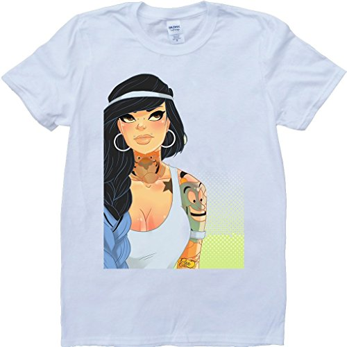 Jasmin Sexy Disney Prinzessin Aladdin Weiß Benutzerdefinierten Gemacht T-Shirt Weiß