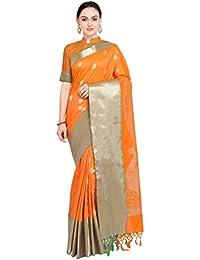 c6b2d199de78db Amazon.in  Oranges - Silk Sarees  Clothing   Accessories