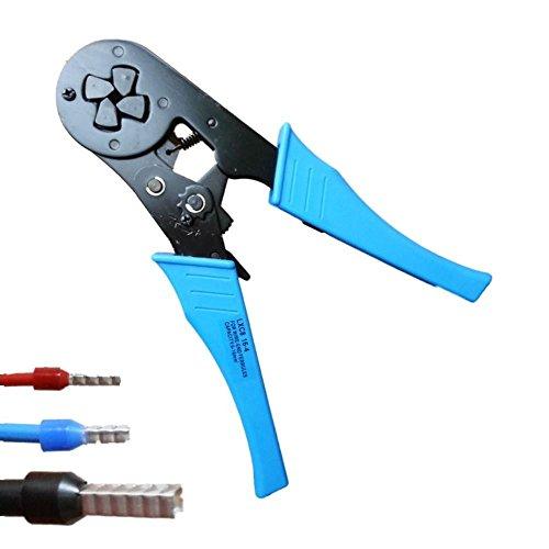 Preisvergleich Produktbild Crimpzange Aderendhülsenzange 2,5 - 16 mm² für isolierte und unisolierte Aderendhülsen Vierkantpressung