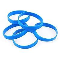Green House-5pcs Blank Wristband Silicone Wristbands Braccialetti dello Sport alla Moda Blu