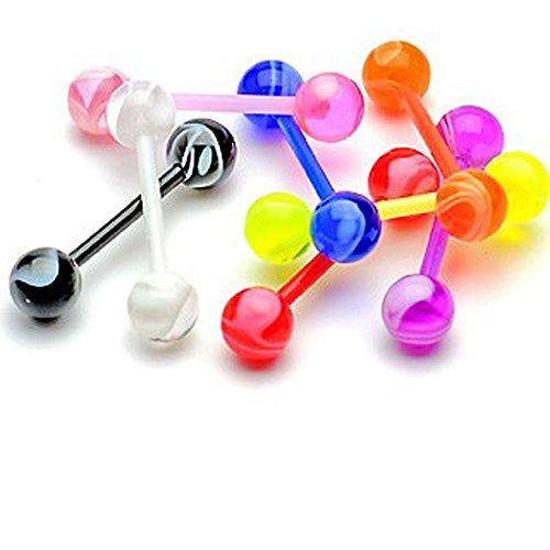 punkjewelry-zungenpiercing-bioflex-marmor-8er-set-bioflex-flexibler-kunststoff