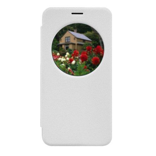 D8Q Premium Ultradünnes Einzigartige Fenstergestaltung Stoß Kunstleder Kasten für Asus ZE500KL