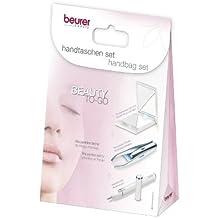 Beurer Set belleza para el bolso -  3 productos, lápiz de manicura, espejo con luz, pinzas con luz, color blanco