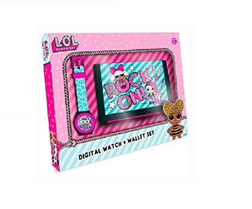 L.O.L. Surprise Mädchen Digital Uhr mit Plastik Armband 22070 (Röcke Für Mädchen Weihnachten)