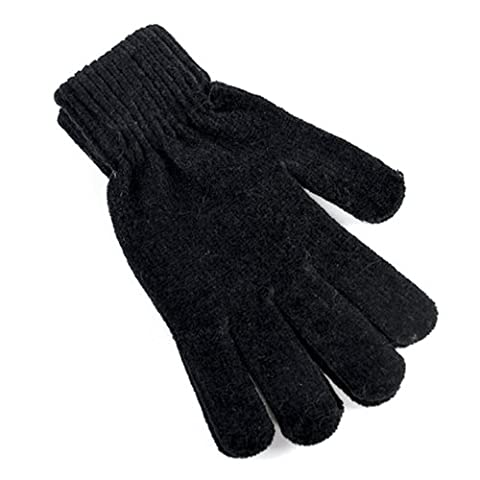 Ladies Black Magic Stretch Soft Chenille Gloves Warm Winter Accessory Outdoors