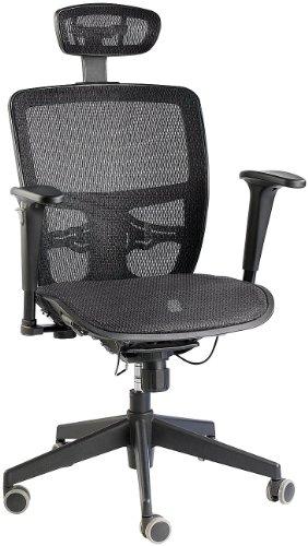 General Office Vollnetz-Bürodrehstuhl mit Kopfstütze und Armlehnen thumbnail