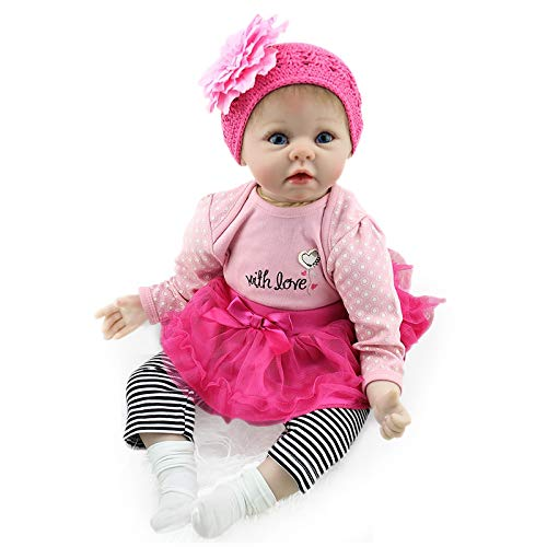 Dolls Nicery 20-22inch 50-55cm Bebe Reborn Doll Soft Silicone Boy Girl Toy Reborn Baby Doll Gift For Child Pink Heart-shaped Pillow Good Reputation Over The World Toys & Hobbies