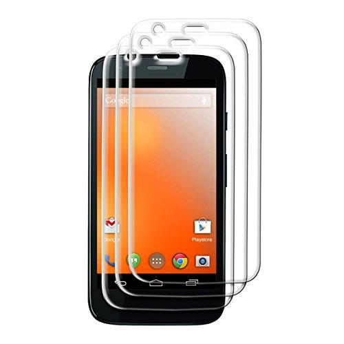 3x kwmobile Pellicola Protettiva in Vetro Temperato trasparente per Motorola Moto G (2013) - Qualità premium