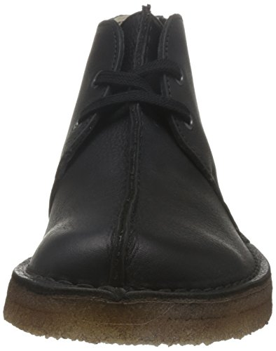 Clarks Men Black Leather Desert Trek Botas Cuero Negro (26128366)