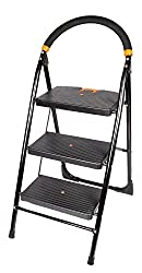 Truphe 3 Step Folding Ladder With Wide Steps, 3 step ladder with 2 year warranty ...