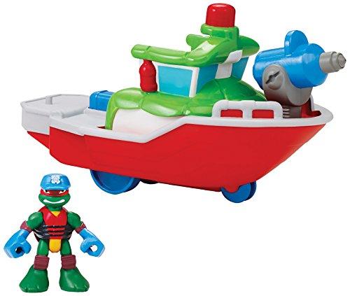 Teenage Mutant Ninja Turtles Refroidir Préalable Half Shell Heroes Capitaine de Bateau de Pompiers avec Raphael Baignoire Véhicules et Figure