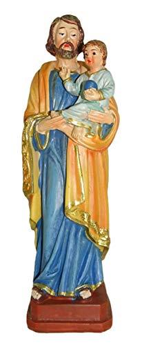 Ferrari & Arrighetti Estatua San José con el Niño Jesús de 12 cm con marcapáginas (en IT/ES/IN/FR)