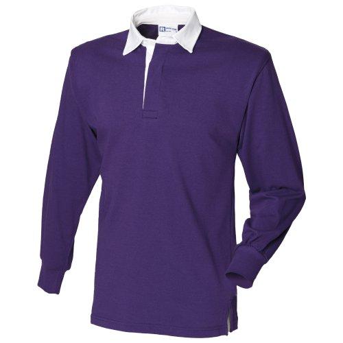 Front Row Langarmshirt Klassisch Rugby Shirt Grün
