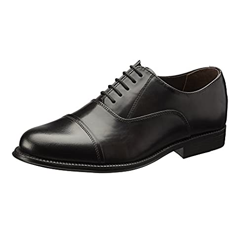 Clifford James Classic Oxford Men's Real Leather Shoes. (11, Black)