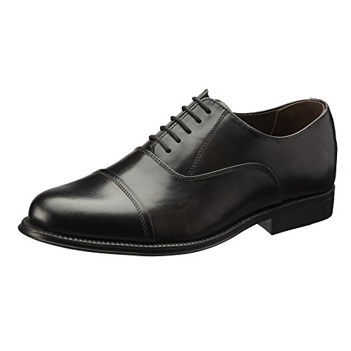 Clifford James Classic Oxford Men's Real Leather Shoes. (10, Black)