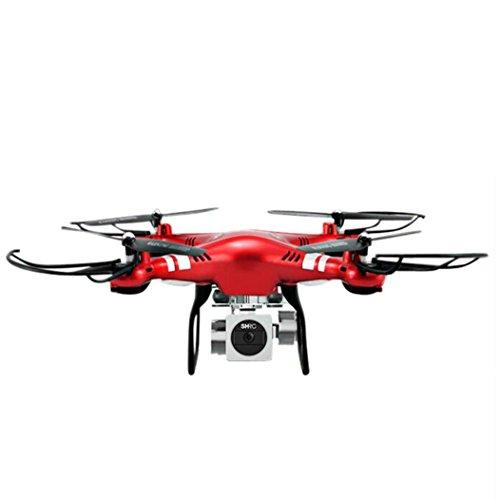 WYXlink RC Quadcopter 1080p Weitwinkel-Objektiv 270 Grad rotierende HD-Kamera Drohne FPV Geschenk (Rot)