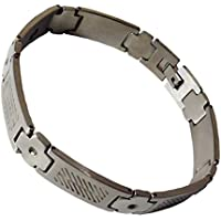 Chunky Edelstahl Silber farbigem Magnettherapie Armband preisvergleich bei billige-tabletten.eu
