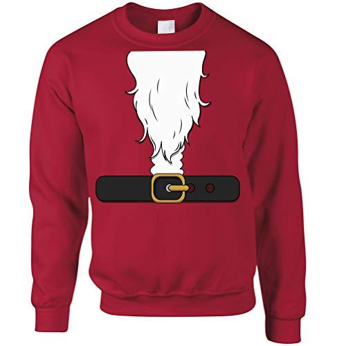 Großbritannien Damen Weihnachtsmann Kostüm - Tim And Ted Neuheit Weihnachten Unisex-Pullover Weihnachtsmann-Partei-Kostüm Christmas Red X-Small