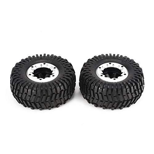 Preisvergleich Produktbild 2 Stücke 128mm Rock Crawler Felge und Reifen für 1 / 10 Traxxas HSP HPI ZD Racing RC Autoreifen Zubehör Komponente
