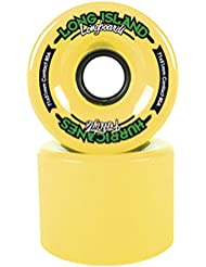 Long Island 83A Hurricanes - Rueda de skateboard, color amarillo, talla 71 x 51