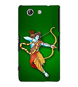 Fiobs Designer Back Case Cover for Sony Xperia Z4 Compact :: Sony Xperia Z4 Mini (Ram God Hindu Ramchandra)