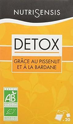 NutriSensis Detox grâce au Pissenlit/à la Bardane Infusions 20 Sachets 32 g - Lot de 3