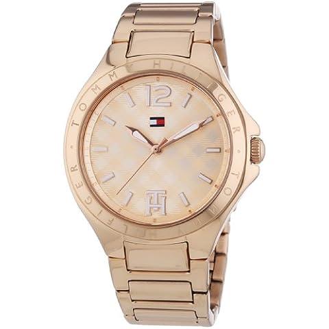 Tommy Hilfiger  Averil - Reloj de cuarzo para mujer, con correa de acero inoxidable, color dorado