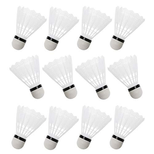 LDA OTTIENI Fresh 12Pcs Volani plastica Bianca da Badminton Accessori per Palestra allaperto