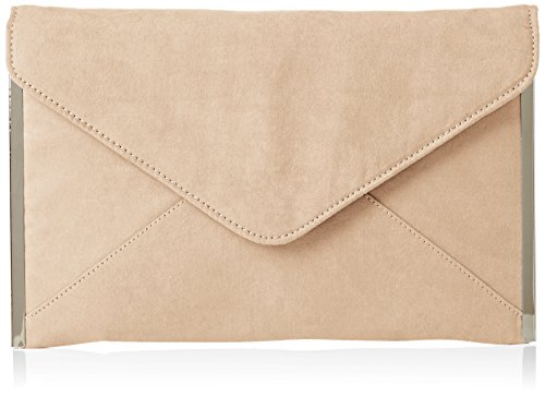 Nude Patent Leather (Swankyswans Damen Louis Suede Slim Envelope Party Prom Clutch Bag Tasche, Beige (Nude), One Size)