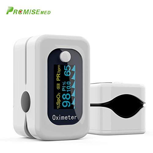 【Salud Cuidado】PROMISEMEDIC Oxímetro de Dedo, Pulsioxímetro de Dedo Oxímetro Pulsómetro...