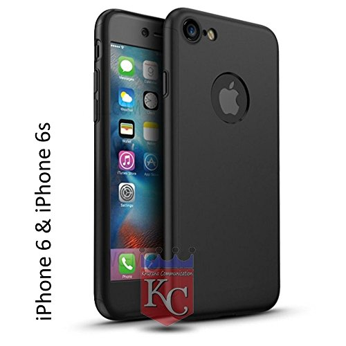 KC All-Round Full Phone Protection Slim Fit Both Side Back Cover For iPhone 6/ 6S - Black