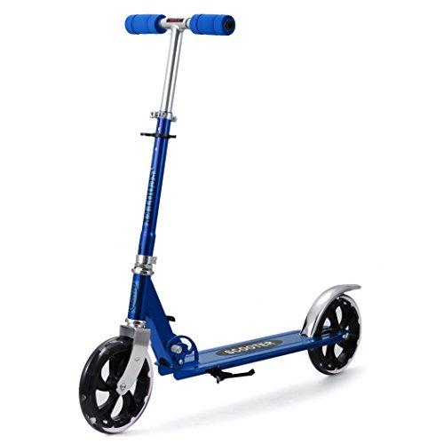 mymotto mymotto Scooter Cityroller Tretroller Roller City Scooter Erwachsene Kinder 205 mm Wheel, Outdoor und Sport, Blau
